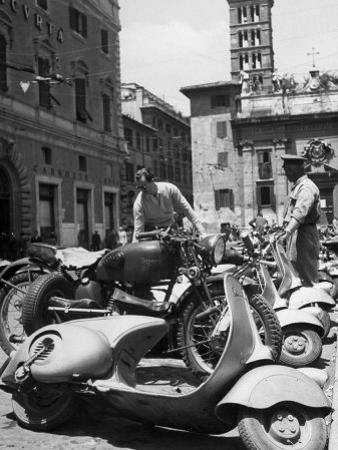 Parking Lot for Vespa Scotters