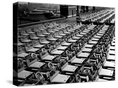 Rows of Finished Jeeps Churned Out in Mass Production for War Effort as WWII Allies