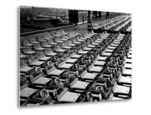 Rows of Finished Jeeps Churned Out in Mass Production for War Effort as WWII Allies by Dmitri Kessel
