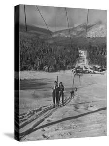 Skiing Weekend, Going Up the Ski Lift by Dmitri Kessel