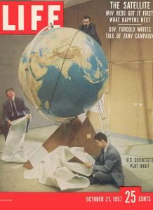 Smithsonian Observatory Scientists Working at M.I.T. to Calculate Sputnik's Orbit, October 21, 1957 by Dmitri Kessel