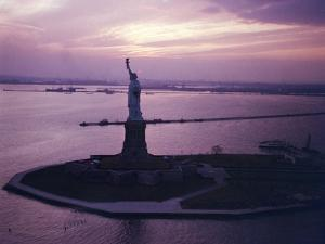 Statue of Liberty on Bedloe's Island in New York Harbor by Dmitri Kessel