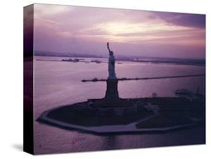 Statue of Liberty on Bedloe's Island in New York Harbor by Dmitri Kessel