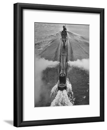 Submarine Roaring Through the Ocean