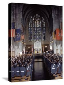 West Point Cadets Attending Service at Cadet Chapel by Dmitri Kessel