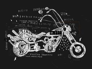 Image of Motorcycle, Which is Made in the Style of Graffiti by Dmitriip