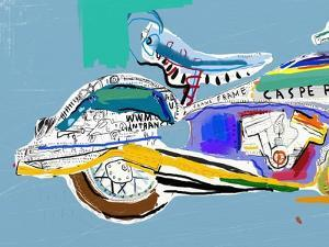 Motorcycle Image Which Consists of Different Colors by Dmitriip