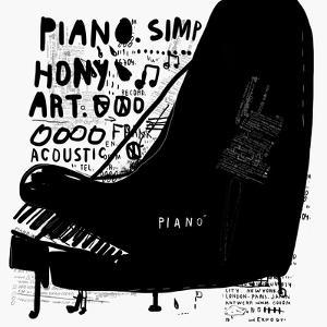 The Symbolic Image of a Piano on White Background by Dmitriip