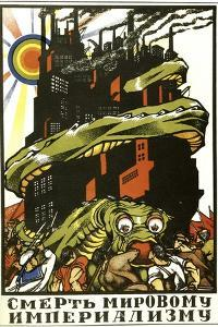 Death to World Imperialism, Poster, 1919 by Dmitriy Stakhievich Moor