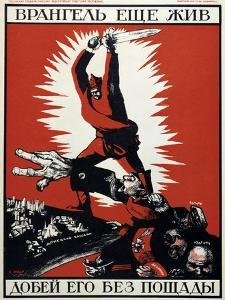 Soviet Political Poster, 1920 by Dmitriy Stakhievich Moor
