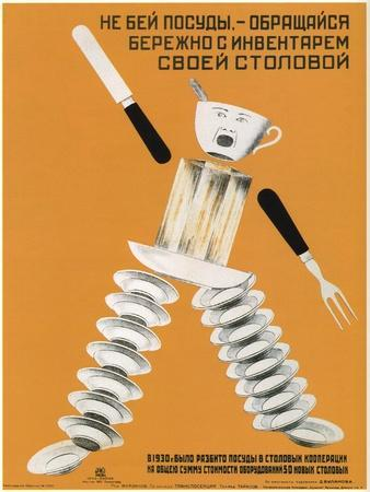 Be Careful with Utensils in Your Canteen, 1931