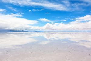 Lake Salar De Uyuni with a Thin Layer of Water by DmitryBurlakov