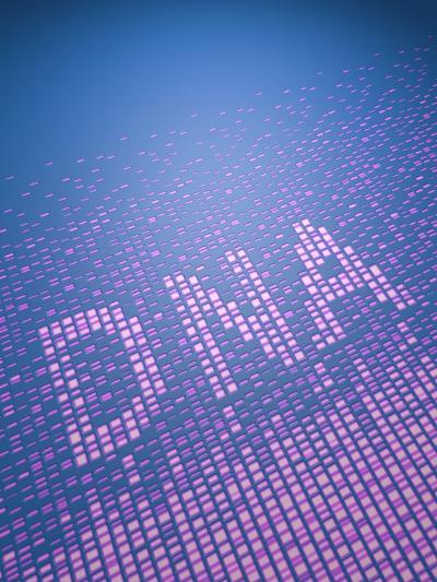 DNA Fingerprinting, Sequence of Bases-David Parker-Photographic Print