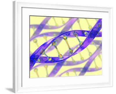 DNA Molecule-David Mack-Framed Photographic Print