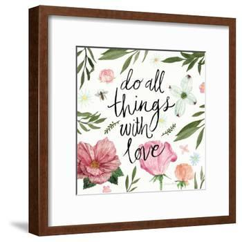 Do All things with Love-Sara Zieve Miller-Framed Art Print