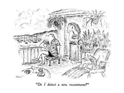 """Do I detect a new resentment?"" - New Yorker Cartoon-Edward Koren-Premium Giclee Print"