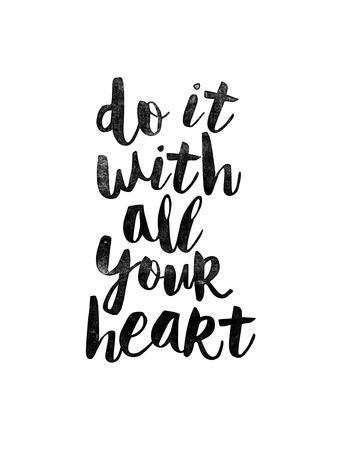 do it with all your heart 2 art print by brett wilson art Let's Do It do it with all your heart 2 brett wilson art print