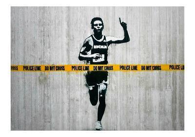 Do not cross-Banksy-Giclee Print