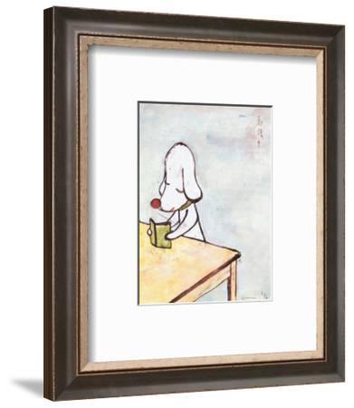 Do Not Disturb!, c.1996-Yoshitomo Nara-Framed Art Print