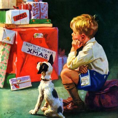 """Do Not Open Until Christmas,""December 1, 1934-Henry Hintermeister-Giclee Print"