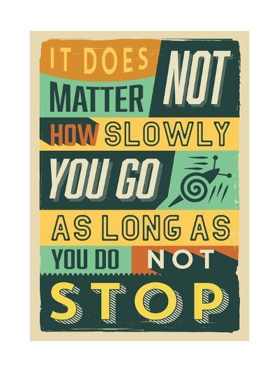 Do Not Stop-Vintage Vector Studio-Art Print