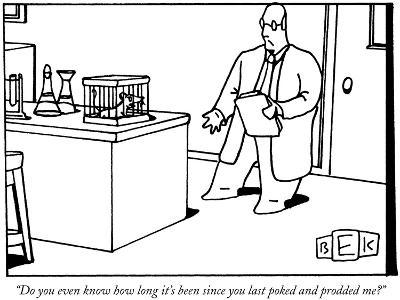 """""""Do you even know how long it's been since you last poked and prodded me?"""" - New Yorker Cartoon-Bruce Eric Kaplan-Premium Giclee Print"""
