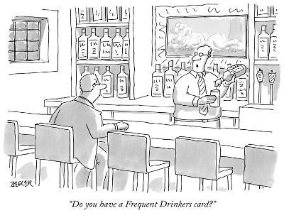 """""""Do you have a Frequent Drinkers card?"""" - New Yorker Cartoon-Jack Ziegler-Premium Giclee Print"""