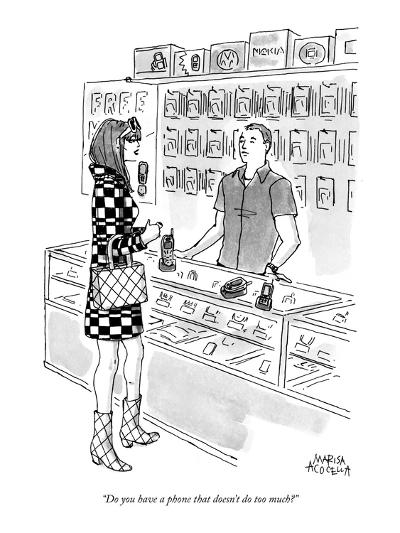 """""""Do you have a phone that doesn't do too much?"""" - New Yorker Cartoon-Marisa Acocella Marchetto-Premium Giclee Print"""