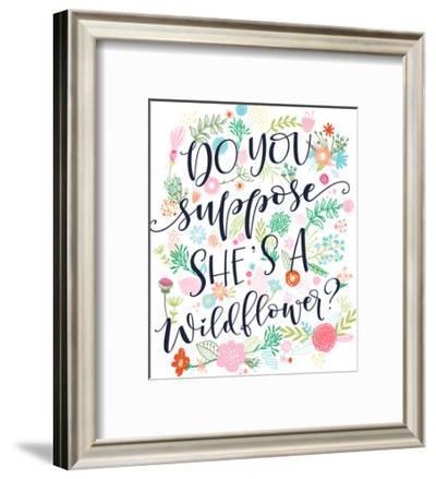 Do You Suppose She Is A Wildflower-Elena David-Framed Art Print