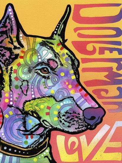 Doberman Luv-Dean Russo-Giclee Print