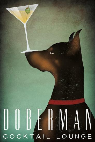 Doberman Martini-Ryan Fowler-Art Print