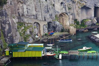 Dock Along the Waterfront of Sorrento, Italy-Terry Eggers-Photographic Print