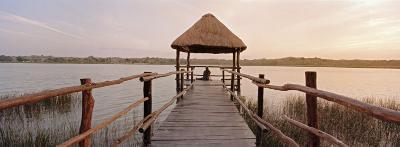 Dock and Lake, Villa Arqueologica, Coba, Quintana Roo, Mexico--Photographic Print