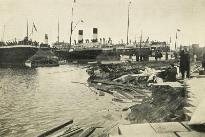Dock in Mesina Port Destroyed by Earthquake--Giclee Print