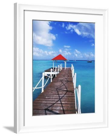 Dock in St. Francois, Guadeloupe, Puerto Rico-Bill Bachmann-Framed Photographic Print