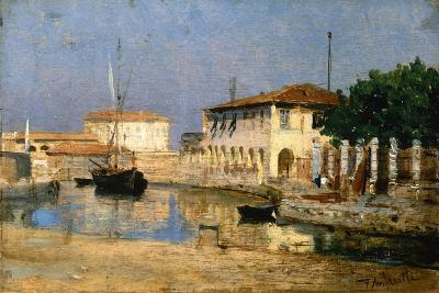 Dock in Venice-Federico Andreotti-Giclee Print