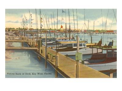 Dock, Key West, Florida--Art Print