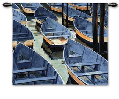 Docked-Roger Bansemer-Wall Tapestry