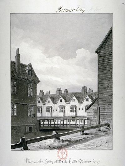 Dockhead Folly, Bermondsey, London, 1820-John Chessell Buckler-Giclee Print