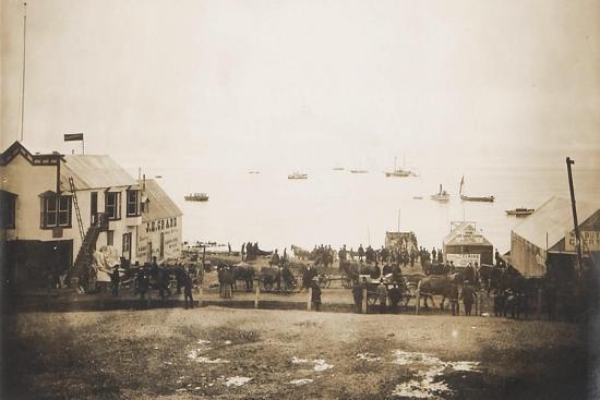 Docks At Nome Alaska With Ships--Art Print