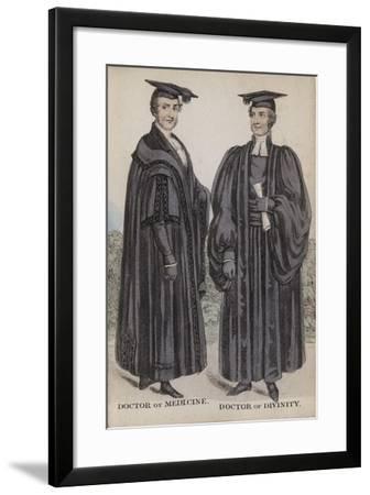 Doctor of Medicine, Doctor of Divinity--Framed Giclee Print