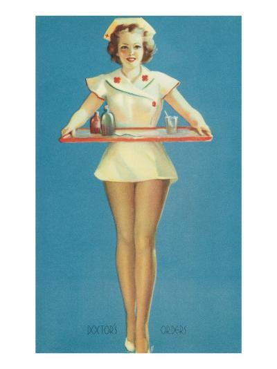Doctor's Orders, Nurse with Tray--Art Print