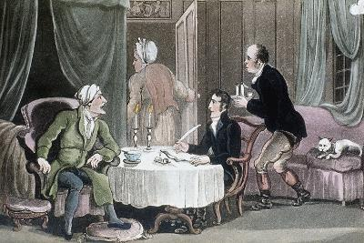 Doctor Syntax Making His Will, C1816-Thomas Rowlandson-Giclee Print