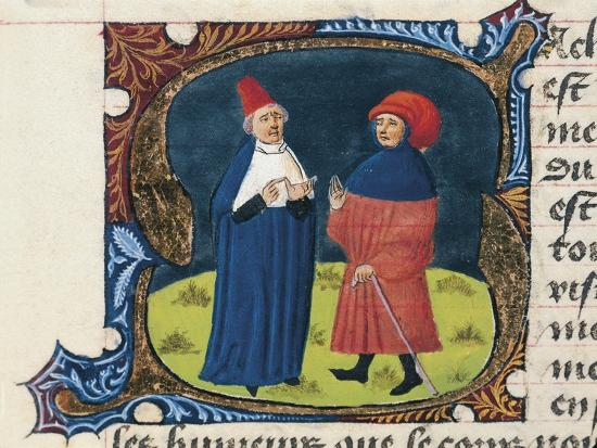 Doctor with Student, Miniature from the Treaty of Medicine--Giclee Print