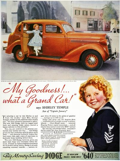 Dodge Automobile Ad, 1936--Giclee Print