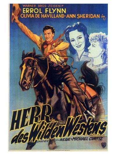Dodge City, German Movie Poster, 1939--Art Print