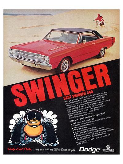 Dodge Dart Swinger 340--Art Print