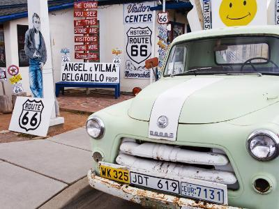 Dodge Truck at Route 66 Museum-Richard Cummins-Photographic Print