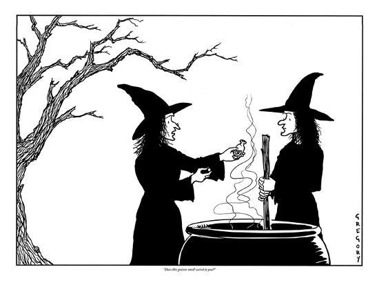 """""""Does this poison smell weird to you?"""" - New Yorker Cartoon-Alex Gregory-Premium Giclee Print"""