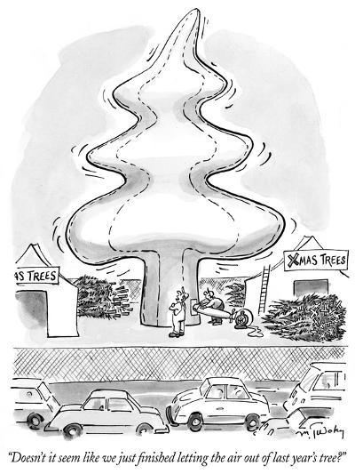 """""""Doesn't it seem like we just finished letting the air out of last year's ?"""" - New Yorker Cartoon-Mike Twohy-Premium Giclee Print"""